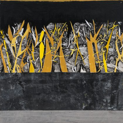 Silver Trees Revisted #4 (Yellow)