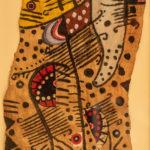 Mbuti Forest Oil on Bark Cloth18 x 30