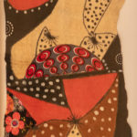Return to the Congo Oil and Fabric on Bark Cloth28 x 18